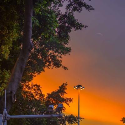 黄昏日落唯美风景